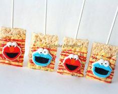 <This item is unavailable Elmo Cookies Elmo Birthday Party Favors Elmo Party Sesame Street Favors Birthday Party Cookies Monster Birthday Rice Krispie Treats Dessert Monster Birthday Parties, Elmo Birthday, Birthday Ideas, Birthday Chocolates, Birthday Desserts, Sesame Street Party, Sesame Street Birthday, Elmo Party Favors, Classroom Treats