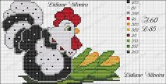 Lidiane Silveira: Galinhas ponto cruz Rooster Cross Stitch, Chicken Cross Stitch, Mini Cross Stitch, Beaded Cross Stitch, Cross Stitch Borders, Cross Stitch Animals, Cross Stitch Charts, Cross Stitching, Cross Stitch Embroidery