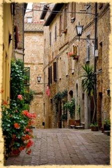 RADDA IN CHIANTI. We rented a car and went on long, winding, sometimes dirt roads to get to this gem of a town.