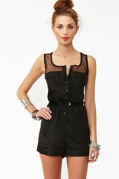 Mad Mesh Romper (Nasty Gal)