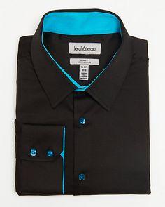 Cotton+Slim+Fit+Dress+Shirt