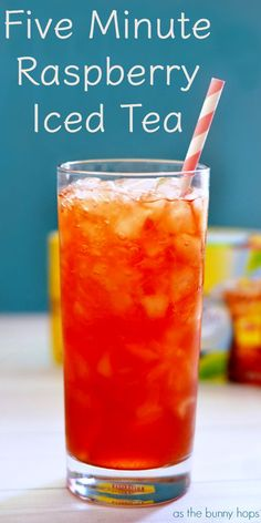 just five minutes away from fresh brewed Raspberry Iced Tea. - -You're just five minutes away from fresh brewed Raspberry Iced Tea. Fruit Tea Recipes, Sweet Tea Recipes, Iced Tea Recipes, Fruit Drinks, Smoothie Drinks, Healthy Drinks, Smoothies, Drink Recipes, Ice Tea Drinks