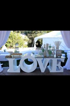 Love sweets table