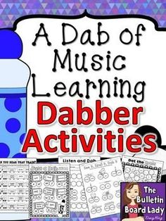 Dabber Activities for Music Class Oh my gosh!  What fun this will be for centers, for my instrument unit and more!