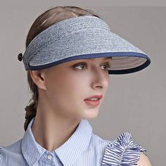 a6f84c7c66a Straw visor hat for women summer casual UV protection sun hats