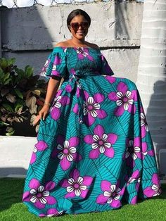 Latest African Fashion Dresses, African Dresses For Women, African Print Fashion, African Attire, Simple Long Dress, Ankara Maxi Dress, African Fashion Traditional, African Blouses, Kitenge