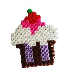 Cupcake van strijkkralen
