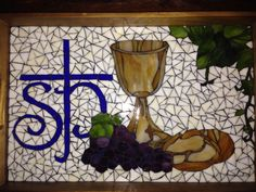 The Body and Blood of Christ Mosaic by Melissa Czekaj