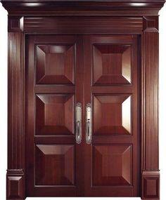 Breezeway~This door design would be the perfect door at both ends of the breezeway. Wooden Front Door Design, Main Entrance Door Design, Double Door Design, Door Gate Design, Wooden Front Doors, The Doors, Oak Interior Doors, Double Doors Interior, Door Design Interior