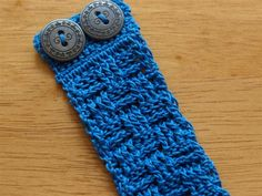Crochet Basketweave Bracelet - free pattern.  I'd like to try this with a sport or worsted weight yarn.