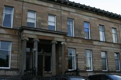 5 Great Western Road, Glasgow.  This is a Greek Thompson building; we lived here for a year.  Drove by it the other day, a unit on the end is being divided into four, and the start at half a million pounds.  Got cash?