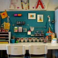 I always forget about the peg board.  It has so many great uses and it's inexpensive as well.