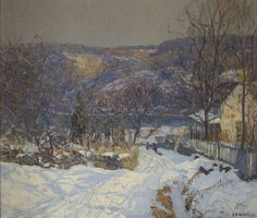 """""""The Road To The River,"""" Edward Willis Redfield, oil on canvas, 26 X 32"""", David David Gallery."""