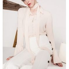 Casual Feminie Blouses 2016 Autumn and Winter Fashion Turn-down Collar Single Breasted Shirts Flare Full Sleeve Woman Blouse Top Vintage Boutique, Blouses For Women, Winter Fashion, Vintage Blouse, Blazer, Single Breasted, Casual, Jackets, Stuff To Buy