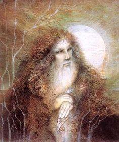 Susan Seddon Boulet - « Myrddin (Merlin) » - 1987 Merlin, enchanteur, celtique, qui veilla sur la destinée du roi Arthur