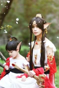 The ears are a little much, but I like the Asian elf idea. . . Maybe the water elves?