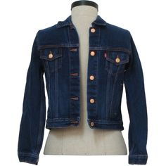 Levis 80's Vintage Jacket: 80s style made new recently- Levis- Petite... ($40) ❤ liked on Polyvore featuring outerwear