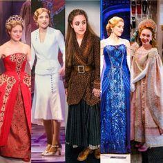 The beautiful dresses for Anya/Anastasia Anastasia Costume, Anastasia Movie, Anastasia Broadway, Anastasia Dress, Anastasia Musical, Disney Anastasia, Broadway Costumes, Theatre Costumes, Teatro Musical