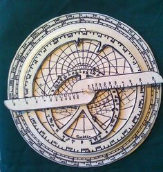 To use an astrolabe, you adjust the moveable components to a specific date and time. Once set, the entire sky (visible and invisible), is represented on the instrument's surface.