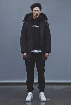 "koreanmalemodels: ""Kim Wonjoong for UPSCALE 2014-2015 F/W collection (via: hiphoper) """