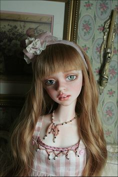 BJD doll - Cassie in pink, BJD doll Pretty Dolls, Beautiful Dolls, Big Eyes Artist, Realistic Dolls, Pink Grapefruit, Doll Repaint, Fantasy Women, Dolls Dolls, Doll Face