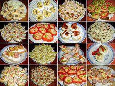 silvestrovské pohoštění recepty jednohubky chlebíčky kanapky Breakfast Tea, Tea Time, Picnic, Tacos, Brunch, Food And Drink, Mexican, Ethnic Recipes, Retro