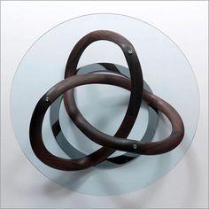 Porada, infinity round glass coffee table