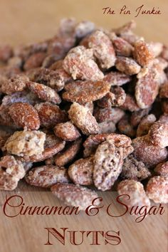 Cinnamon & Sugar Candied Nuts by The Pin Junkie  ~ shared at Brag About It Link Party on VMG206 (Monday's at Midnight). #BragAboutIt