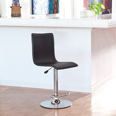 winsome wood adjustable single curve back air lift swivel bar stool