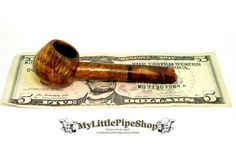 Oak burl wooden pocket tobacco herbal pipe by MyLittlePipeShop