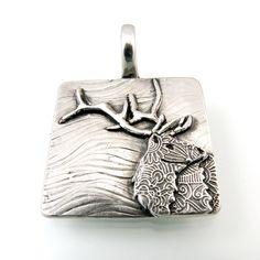 Sterling Silver Elk Pendant