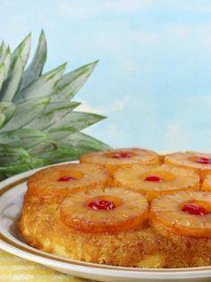 Ανάποδο κέικ με ανανά - www.olivemagazine.gr Greek Sweets, Cooking Cake, Greek Recipes, Candy Recipes, Cake Cookies, Chocolate Cake, Pineapple, Pancakes, Deserts