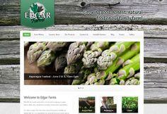 Edgar Farms website design by BE3D!