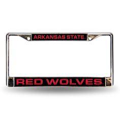 New! Arkansas State Red Wolves Laser Chrome Frame #ArkansasStateRedWolves