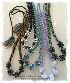 Pip Cluster Bead Necklace©2014