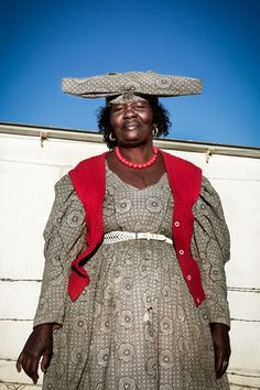 """afrikanattire: """"iluvsouthernafrica: """" Namibia: Portraits of Herero women by Meeri Koutaniemi """" I've always found their style of dress interesting. It wild to see how different Afrikan groups have been..."""