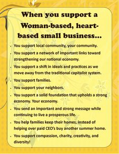 Support your local Woman-based small business.