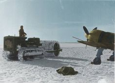 Romanian IAR-80 fighter at a snowy airfield on the eastern front - pin by Paolo Marzioli