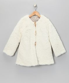 Take a look at this White Reversible Coat - Toddler & Girls by La faute à Voltaire on #zulily today!