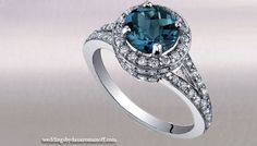 Blue Topaz Engagement Rings Are Famous For Women With Intellectual