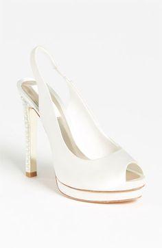 3349dc1190f white satin peep toes Pretty Shoes