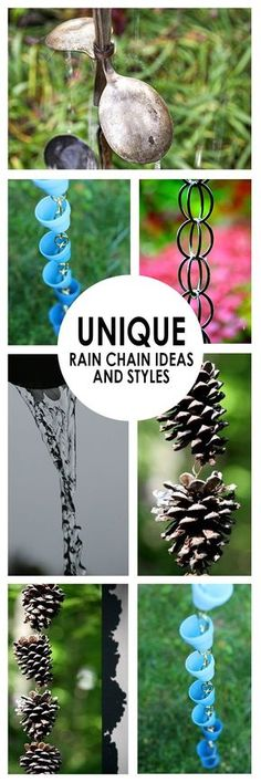 Unique rain chain ideas- a fun DIY project for your yard! | Bees and Roses