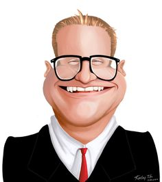 Caricature2- Drew Carey by Kauritsuo