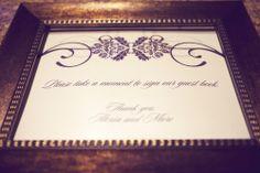 by Nice Owl Design Studio :: Sheila Garvey Photography :: J Squared #Events: #Planning + #Design :: #guestbook #signage :: #bronze #pictureframe :: #wedding