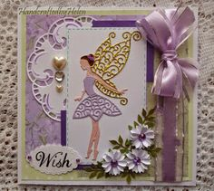 Handcrafted by Helen: Two Tattered Lace Fairy Cards