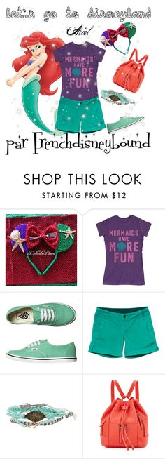 """""""Ariel (the little mermaid)"""" by frenchdisneybound ❤ liked on Polyvore featuring Vans, Kavu, Disney, Neiman Marcus, disney, thelittlemermaid and disneybound"""