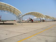 Clear span buildings can also be used as aircraft hangars. For more info visit http://www.shelterstructures.com/2014/03/27/clear-span-buildings-provide-ideal-solution-aircraft-shade-structures/