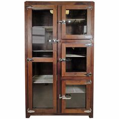 Impressive Ice Chest Style Display Cabinet | See more antique and modern Cabinets at https://www.1stdibs.com/furniture/storage-case-pieces/cabinets