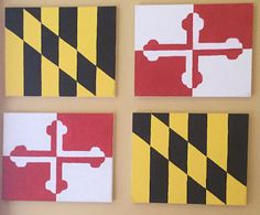 Maryland Flag Canvas by SincerelyAshleigh on Etsy