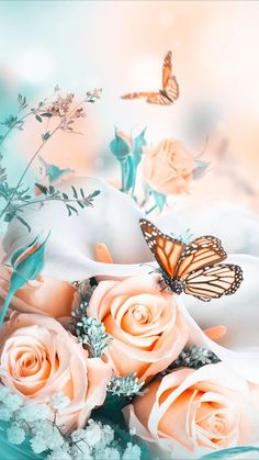 58 Ideas For Flowers Spring Wallpaper Colour - Bilder - Blumen Butterfly Wallpaper Iphone, Flower Background Wallpaper, Sunflower Wallpaper, Scenery Wallpaper, Rose Wallpaper, Cute Wallpaper Backgrounds, Flower Backgrounds, Cellphone Wallpaper, Aesthetic Iphone Wallpaper
